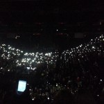 Thousands of cellular phones during Amazing Grace with For King and Country