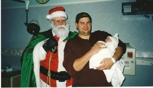 The youngest Santa photo in existence.