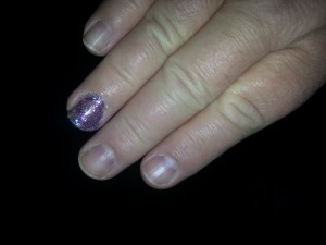 If you're going to wear nail polish, it should be sparkly and purple.